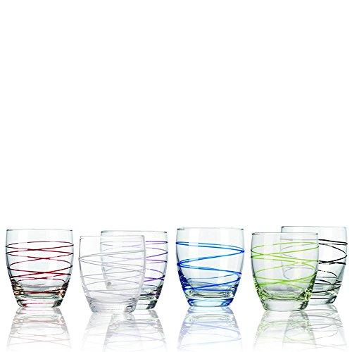 Montana WH Becher :Swirl 6/Set farbig Sortiert, Saftbecher Wasserbecher Wasserglas Trinkglas