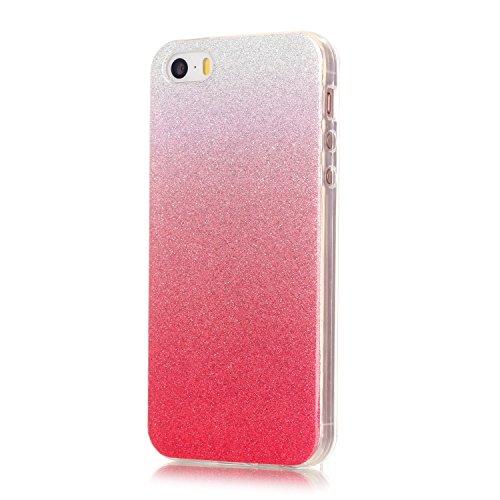 iPhone Case Cover Cas de l'iphone 5 5S, modèle coloré TPU étui souple cas en caoutchouc de couverture de peau de silicone pour l'iphone 5 5S SE ( Color : G , Size : Iphone5 5S ) H