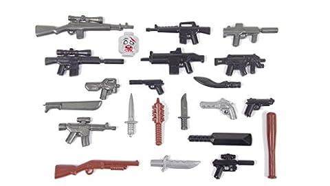 BrickArms Zombie Defense Pack 2016, Waffen Set Custom Waffen für LEGO® Figuren