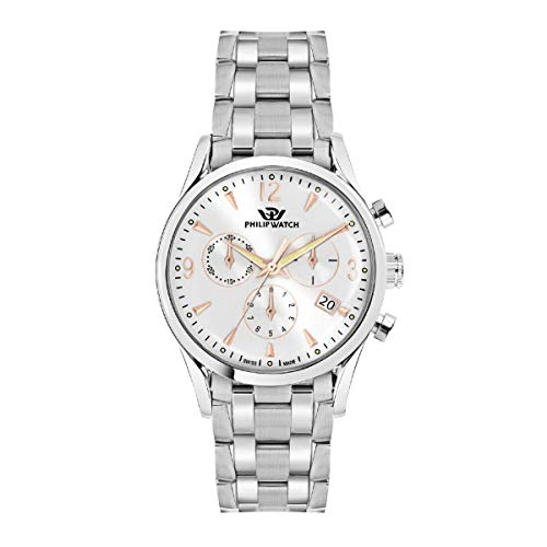 Philip Watch Montre pour Homme, Collection Sunray, Mouvement à Quartz, chronographe, en Acier - R8273908001