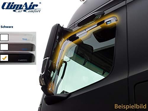 ClimAir LKW Windabweiser für Fahrer- und Beifahrertür -CLS0046016D (Farbe: schwarz)