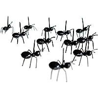 LUFA 12pcs/set Mini tenedor de fruta de hormigas cocina de plástico ecológico tenedores de comida para bar partido