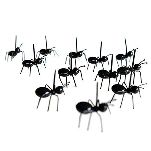 Bobury 12pcs/set Mini tenedor de fruta de hormigas cocina de plástico ecológico tenedores de comida para bar partido