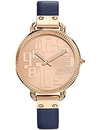 Reloj mujer JEAN PAUL GAULTIER–Index–acero PVD Rosé–Pulsera cuero azul–36mm–8504306
