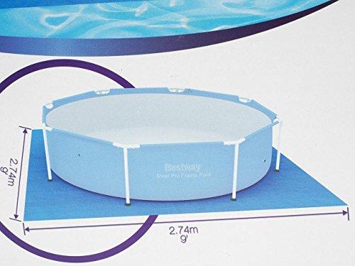 Bestway Ground Cloth Swimming Pool Floor Protector, 274 x 274 cm