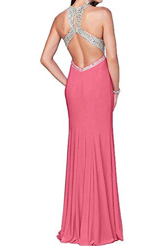 Toscana sposa donna cristallo due-Traeger Chiffon sera lungo Party Ball Bete un'ampia vestimento Anguria
