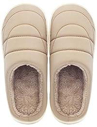 CAI&HONG-Daily GCH Zapatillas de casa de algodón Felpudas de Invierno, B, 38/39