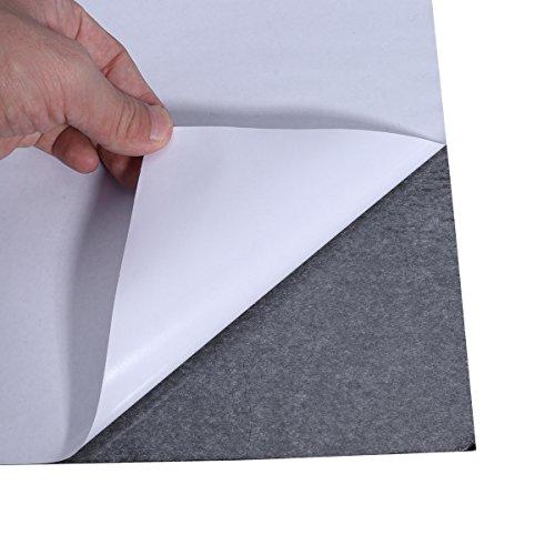 ROSENICE 10 Blätter Filzplatten selbstklebend Filzgleiter Mehrzweck Bastelfilz für Kunst und Handwerk machen (schwarz)