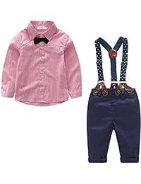 Yilaku Bebés Juego de Ropa Camisas y Pantalones Conjunto para Bebé Niño a370ac7a9099