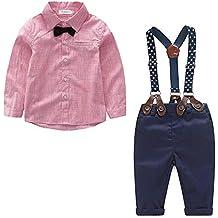 3229ecfef1b06 Yilaku Bebés Juego de Ropa Camisas y Pantalones Conjunto para Bebé Niño