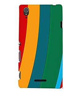 EPICCASE different colors Mobile Back Case Cover For Sony Xperia T3 (Designer Case)