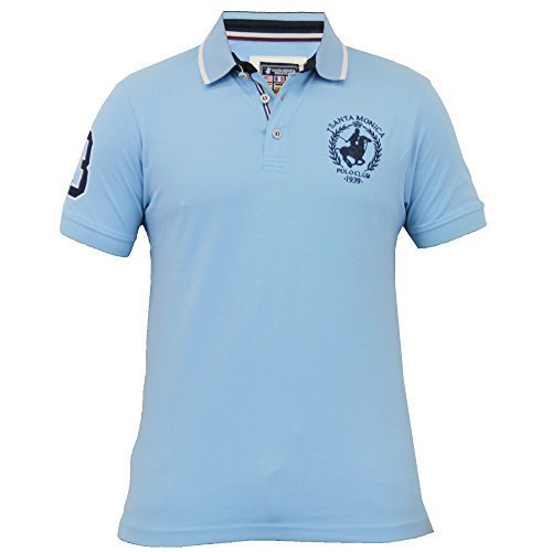 Herren Kurzärmelig Pique Polo Hemden By Santa Monica Sky - HORNER