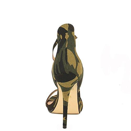 Ideal Shoes, Damen Sandalen militaire