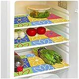 Shri Anand Creations Multi Print Fridge Mat/Refrigerator Drawer Mat Set Of 3