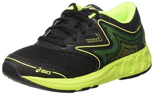 Asics Noosa Gs, Chaussures de Course pour Entraînement sur Route Mixte Enfant Noir (Black/safety Yellow/green Gecko)