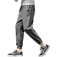 Hombre Cintura Media Pantalones Largos, Moda Pantalón de Chándal con Cordón Hombres Tallas Grandes Pantalones Casuales para Jogging Fitness Deportivos
