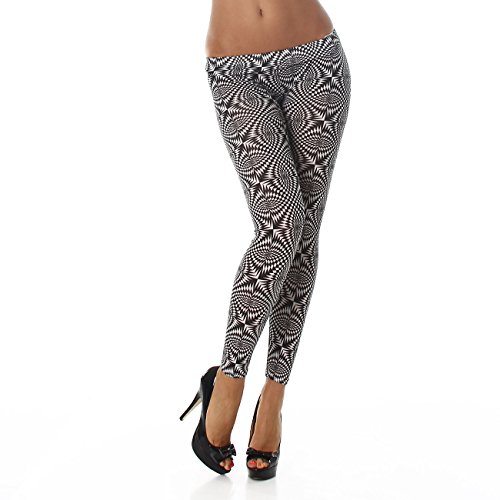 Damen Leggings Leggins Hose Body-Slim Hose Karotte Lang Ohne Verschluss Design Tapered Schwarz KY-375