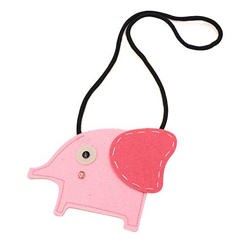 Cosanter Bolso de Mano para Niño de Diseño de Elefante del Monedero Cartera Bolso para 3 - 12 Años de Edad Niños Color Rosa