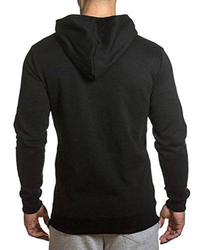 Brinny Kapuzenpullover Kapuzen-Sweatshirt Hoodie Sweatshirt Herren Pullover Pulli Sweater S-XXL Sweatjacke Slim Fit Jacke mantel Schwarz