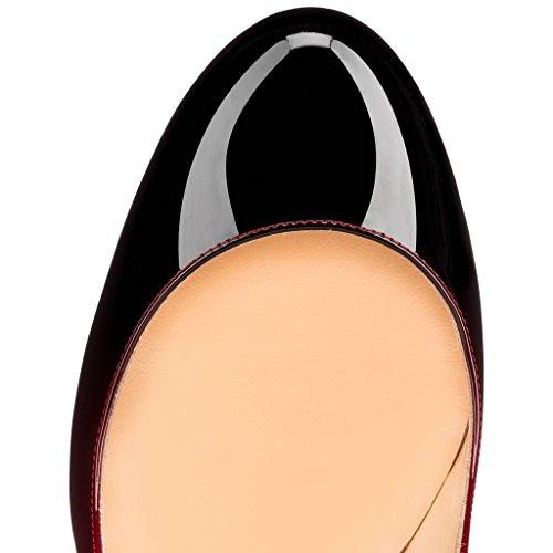 uBeauty - Scarpe da Donna - Scarpe col Tacco - Classiche Scarpe col Tacco - Punta Rotonda Multicolore