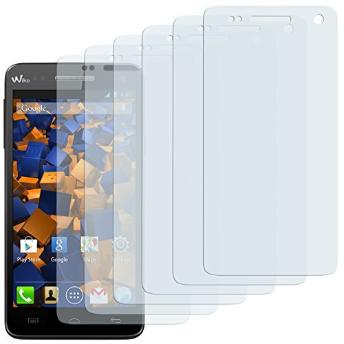 mumbi Schutzfolie kompatibel mit Wiko Rainbow Folie klar, Bildschirmschutzfolie (6x)