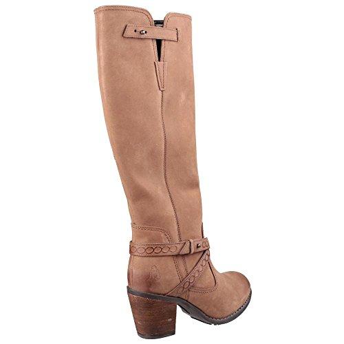 Donna Hush Puppies Gussie Moorland Stivali in pelle marrone chiaro Tan