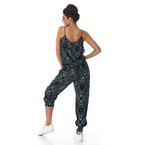 Damen Overall Anzug Hausanzug Jumpsuit Bodysuit Einteiler Lang Trendy Hosenanzug Mint (Variante 2)