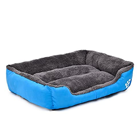 PAWZ Road Orthopedic Dog Bed Colorful Pet Cushion Beds Puppy Cat Lounge Sofa Oxford Fabric Blue M