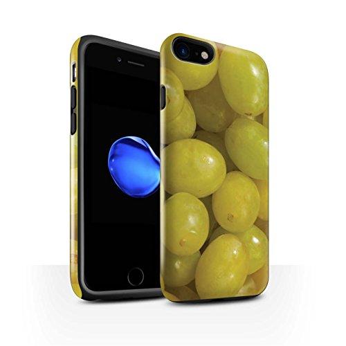 STUFF4 Glanz Harten Stoßfest Hülle / Case für Apple iPhone 8 / Wassermelone Muster / Saftige Frucht Kollektion Weintrauben