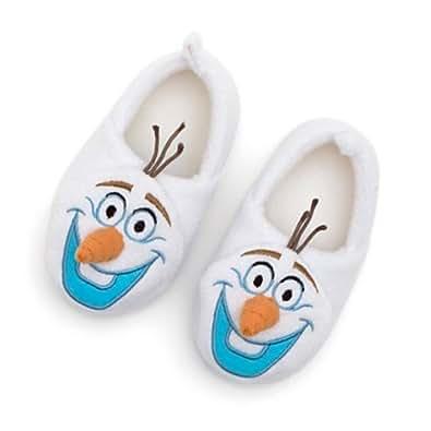 Disney - Chaussons chaud intérieur pour enfants La Olaf en relief de Reine des Neiges pour enfants - taille UK 9 - 10 ---- EU 27 - 28