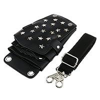 Sharplace Bolsa Cinturón de Almacenaje de Tijeras de Corte de Pelo Herramienta de Peluquero Salón - Negro