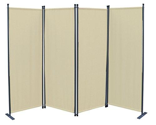 GRASEKAMP Qualität seit 1972 Paravent 4tlg Raumteiler Trennwand Sichtschutz Sand