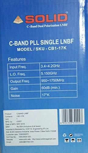 SOLID CB1-17K C-Band PLL Single LNBF