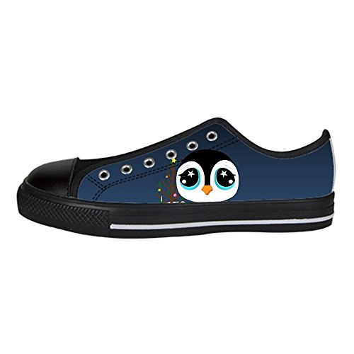 Dalliy pinguin Women's Canvas shoes Schuhe Lace-up High-top Footwear Sneakers (Schuhe Oakland Baby Raiders)