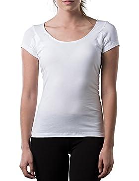 The Thompson Tee Camiseta Interior antisudor Para Mujer - con Refuerzo Antimicrobiano EN Las Axilas - Corte Regular...