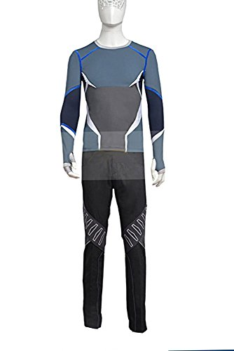 Avengers: Age of Ultron Movie Quicksilver Cosplay Kostüm Full Set Herren XXL (Halloween 2 Full Movie)