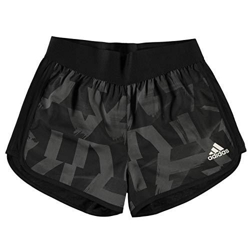 adidas Mädchen Training Marathon Shorts, Grey/Black/White, 164