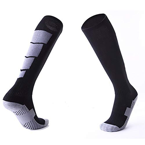 GreatWall 1 Paar Anti-Rutsch-Fußball-Sport-Socken-Mann-Socken-Fußball-Knie über Langen Socken -