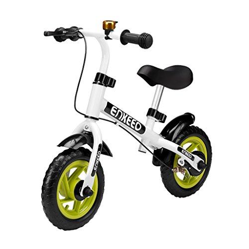 Enkeeo - Bicicleta sin Pedal 10 ″ Timbre Freno Mano
