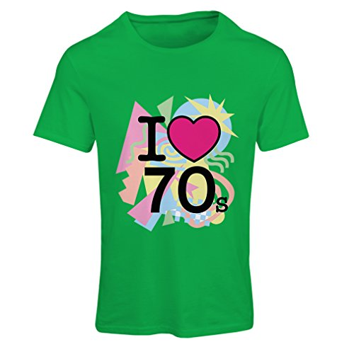 Frauen T-Shirt I love 70's - vintage style clothing (X-Large Grün (Party Dishonored Kostüm)