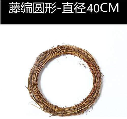 Yirenfeng anello in rattan naturale anello in rattan ghirlanda di natale vivaio di matrimoni negozio di fiori fai da te fatto a mano canna da rattan decorata a secco h