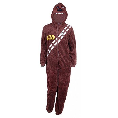 Herren Pyjama Schlafanzug / Overall / Kostüm / Onesie STAR WARS Chewbacca (XL / (Kostüm Xxl Chewbacca)