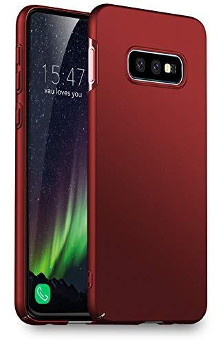vau Hülle passend für Samsung Galaxy S10e - Slim Shell Case Handyhülle Schutzcase dünn rot (kompatibel zu Galaxy S10 e Lite) Rot Hard Case