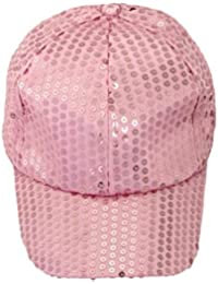 Voberry Unisex-Adult Sequins Shiny Flashy Sunscreen Baseball Hat Ball Cap Adjustable