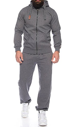 Finchman Finchsuit 1 Herren Jogging Anzug Trainingsanzug Sportanzug FMJS135, Darkgray, 5XL