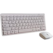 Blanc Mini Sans-Fil QWERTY Clavier et souris pour Smart TV PANASONIC Viera TX-P50ST60B & TC-L47ET5 & TX-L42DT40B & Viera TX-L55ET5B