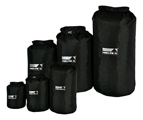 drybag 80 High Peak Drybag L, schwarz, 26 x 26 x 68 cm, 26 Liter