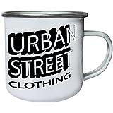 Nueva Moda Calle Urbana Ropa Retro, lata, taza del esmalte 10oz/280ml l968e