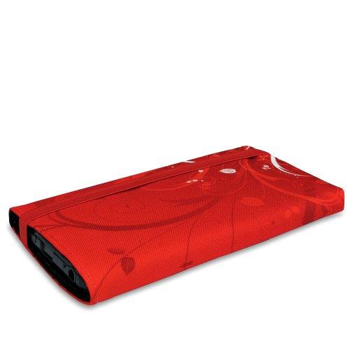 Stilbag Tasche 'MIKA' für Apple iPhone 5c - Design: Womans Wall Rote Blumen