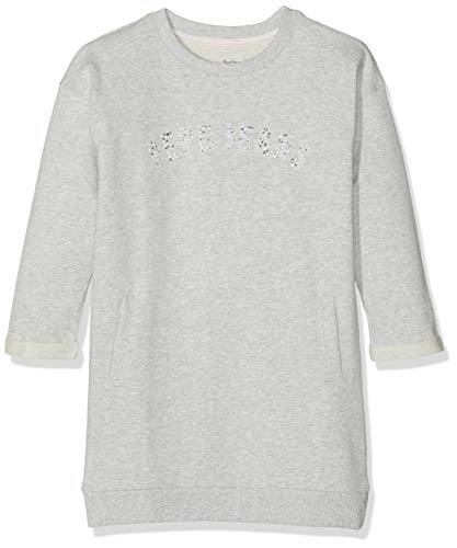 Pepe Jeans Birdy PG951241 Robe, Gris (Grey Marl 933), 4-5 Ans (Taille Fabricant:104/4 Years) Fille